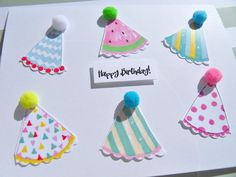 Items similar to Kids Birthday Cards - Funny Birthday Cards - Party Hats Cards - Teen Birthday Cards - Friendship Birthday Cards - on Etsy Kids Birthday Places, Kids Birthday Cards, Teen Birthday, Funny Birthday Cards, Birthday Hats, Humor Birthday, Special Birthday, Happy Birthday, Homemade Birthday Decorations
