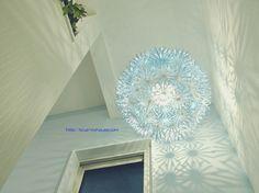 IKEA イケア MASKROS マスクロス ペンダント ランプ LED ライト 照明 デコレーション きれい 綺麗 キレイ おしゃれ 陰影 たんぽぽ タンポポ 点灯 DIY ブルー グラデーション