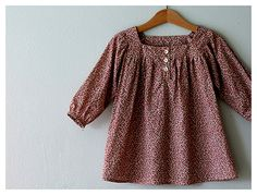 I love Alicia Paulson.  Isn't this little dress sweet?  The pattern is by Citronille and it is called Solveig.
