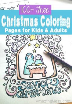 100 Free Christmas Coloring Pages for Kids and Adults!