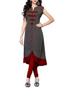 Plain Kurti Designs, Simple Kurti Designs, New Kurti Designs, Churidar Designs, Kurta Designs Women, Kurti Designs Party Wear, Sleeves Designs For Dresses, Dress Neck Designs, Stylish Dress Designs
