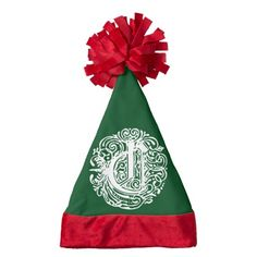 "Monarchia White Letter ""C"" #SantaHat #hat #Christmas #stockinghat #monogram #Sandyspider #Zazzle"