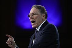 """The hypocrisy is beyond belief,"" CEO Wayne LaPierre said Thursday."