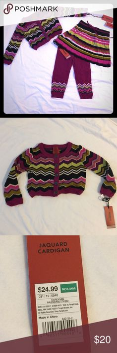 🃏Missoni for Target cardigan Skirt & leggings sold separately!!! I have a collection of NWT baby & toddler sizes! Use my bundle discount to save$$) Missoni Shirts & Tops Sweaters