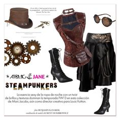"""""""Atomic Jane"""" by janee-oss ❤ liked on Polyvore featuring Louis Vuitton, Dot & Bo, Overland Sheepskin Co. and atomicjane"""
