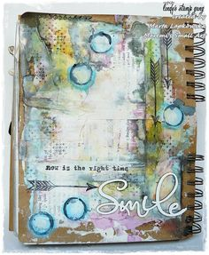 'Smile' journal page by Marta Lapkowska