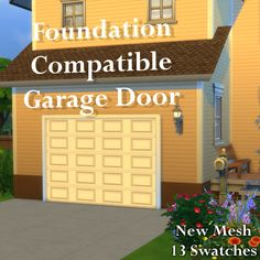 Arch's Sims 4 Blog — Makeshift Basketball Hoop Simple Garage Door...