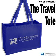 #RohamInt #ToteoftheWeek– The Travel Tote!  The Travel Tote is great for those on the go and with your company branding, you can be the guide for your clients!  This would be perfect for a promotional event, the company picnic or as a special gift for your clients to make your business stand out with this promotional opportunity!
