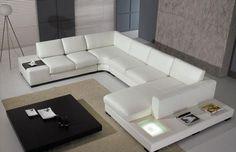 Lounge Italian Style | Lounge Suites - Italian Style White Bonded Leather U shape Lounge ...