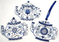 The Decorative Painting Store: Blue Delft Floral Teapot Ornaments DOWNLOAD, Newly Added Pattern Packets