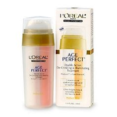 L'Oreal Paris Dermo-Expertise Age Perfect Double Action 1 Oz by L'Oreal. $25.50. Ultra brightening and renewing action for face and neck. Dermatologist tested for gentleness. With Elastium and Collagen technology, visibly reduces wrinkles. Targets age spots and discolorations. Non-comedogenic (won't clog pores). Mature Skincare. Elastium + Pure Vitamin C. Ultra Brightening and Renewing Action for Face and Neck. 2 Separate creams combine upon application for maximum efficacy. ...