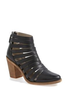 Hinge® 'Dresden' Caged Leather Bootie (Women)   No