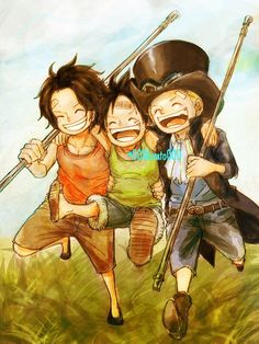 Portgas D. Ace, Sabo and Monkey D. Luffy