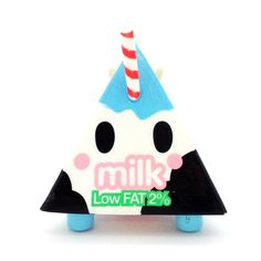 "Moofia by Tokidoki - Milk Year: 2014 3"" Vinyl Figure. Comes with cute milk carton packaging. This is an open box figure."