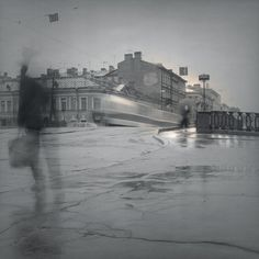 Tram on bridge, 1995 Alexey Titarenko
