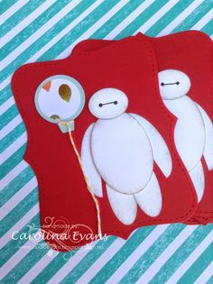 Carolina Evans - Stampin' Up! Demonstrator, Melbourne Australia: Big Hero 6 Punch Art Baymax Invitations