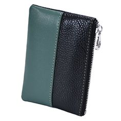 FMC Women Genuine Leather Coin Purse Small Slim Wallet