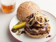 Get this all-star, easy-to-follow Roasted Portobello Mushroom Cheeseburgers with Caramelized Onions and Pimento Aioli recipe from Katie Lee