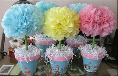 Baby Shower  Topiary Centerpieces