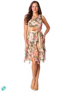 Floral Corkskrew Dress