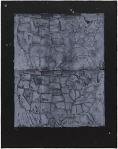 Jasper Johns. Two Maps I. 1966
