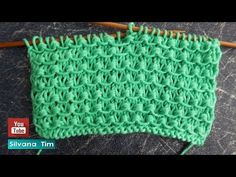 Bello y Simple Punto NUDOS tejido con dos agujas / silvana tim knitting Tricot # 722 - Stickmönster - Strikkeoppskrifter - Hækle strikkeopskrifter Knitting Stitches, Baby Knitting, Knitting Patterns, Crochet Patterns, Crochet Chart, Drops Design, Knitting For Beginners, Twine, Diy Clothes