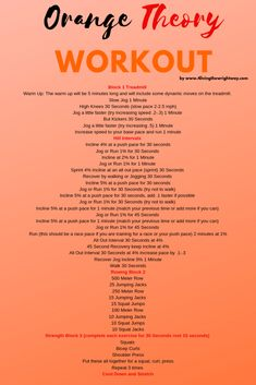 Orange Theory Inspired Workout by www is part of health-fitness - A challenging Orange Theory style workout that features HIIT treadmill intervals with incline, strength traiging and rowing Treadmill Workouts, At Home Workouts, Cardio, Workout Exercises, Tabata, Outdoor Running Workouts, Treadmill Walking Workout, Stairmaster Workout, Hiit Workout Plan