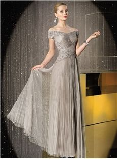 Perth Stunning Off-The-Shoulder Floor-Length Sleeveless Beading Tulle Mother Of The Bride