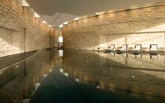 The Dolder Grand Hotel in Zurich offers a spa oasis of calm – for all those who know how to enjoy themselves and who love to relax. Spa Design, Design Hotel, Norman Foster, Architectural Digest, City Resort, Spa Treatment Room, Aqua, Foster Partners, Perfect Day