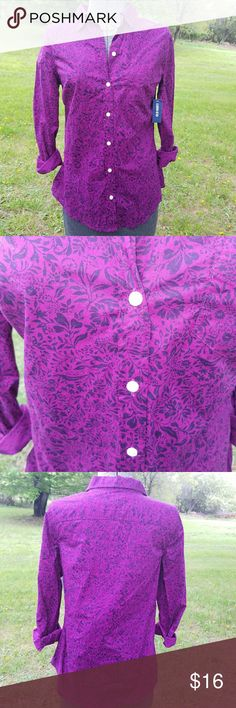Brand new Old Navy blouse Pretty purple button down. New with tags! Old Navy Tops Button Down Shirts