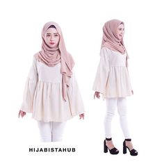 AVAILABLE Babydoll Top  Material : como crepe Free size ( best fits xs - l ) Measurement details :  #hijabistababydolltopmeasurement _________________________________ Price :  1 for RM39 3 for RM100 Postage to WM RM6 Postage to EM RM9 Ship worldwide  #hijabistababydolltop