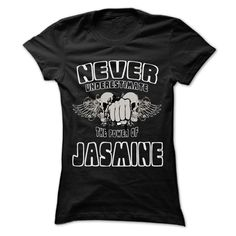 (Top Tshirt Brands) Never Underestimate The Power Of JASMINE 999 Cool Name Shirt…