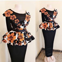 presents current fashion trends of 30 latest ankara skirt and blouse styles for Ladies! To get the best out of African fashion styles, you need peplum ankara skirt and blouse Ankara Skirt And Blouse, Ankara Dress Styles, African Fashion Ankara, Latest Ankara Styles, Latest African Fashion Dresses, African Dresses For Women, African Print Fashion, African Attire, Blouse Styles