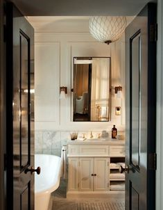 Installing New Bathroom Faucets - CK Bathroom Bad Inspiration, Bathroom Inspiration, Interior Design Inspiration, Bathroom Interior Design, Interior Decorating, Upstairs Bathrooms, Bathroom Faucets, Bathroom Black, Master Bathroom