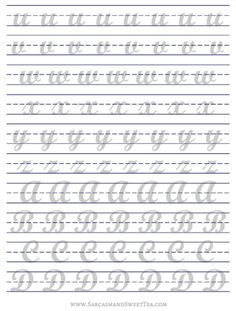 How I Practice Brush Lettering (+ Free Printable Practice Guide Lettering Brush, Brush Lettering Worksheet, Hand Lettering Practice, Hand Lettering Alphabet, Doodle Lettering, Creative Lettering, Calligraphy Alphabet, Lettering Styles, Typography Letters