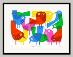 Brighton Early Birds by Lo Cole - Limited edition archival pigment ink print. £130.00, via Etsy.