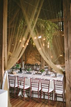 Window dressing with simple sheer fabric draping for banquet hall?  ..#draping Photography by laurenfairphotography.com  Read more - http://www.stylemepretty.com/2013/09/04/pennsylvania-wedding-from-lauren-fair-photography-2/