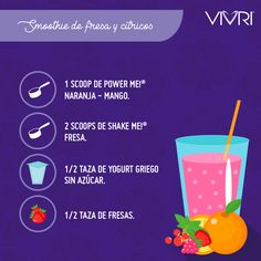 ¡Refréscate con estilo! Prueba este delicioso smoothie. #VIVRI #ShakeMe #PowerMe #EatClean #EatSmart