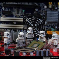 Monday again...back to work at Death Star engine room ... #stormtrooper #lego #minifigures #toyslagram_starwars #vitruvianbrix #starwarstoyfigs #toy #AFOL