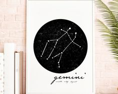 Modern Minimalist Colorful Printable by KitchenSinkPrintShop Wall Art Sets, Large Wall Art, Wall Art Prints, White Wall Decor, Zodiac Constellations, Scandinavian Art, Decorating On A Budget, Poster Wall, Wall Signs