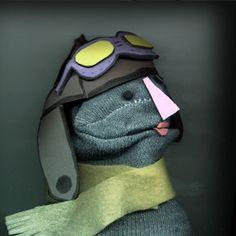 Sock Puppet Portrait of Amelia Earhart 8x10 by martystuff on Etsy, $40.00