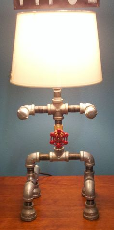 Robot Pipe Lamp by Mandecor on Etsy, $199.00