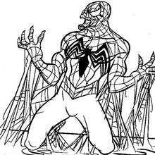 Spiderman scales walls coloring page. With a little imagination color this Spiderman scales walls coloring page with the most crazy colors of your . Venom Spiderman, Free Coloring Pages, Coloring Sheets, Caricature, Spiderman Coloring, Crazy Colour, Bear Art, Oeuvre D'art, Drawings