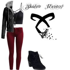 Inspired by Clary from the Upcoming Show Shadow Hunters by greciat on Polyvore featuring polyvore, fashion, style, Sisley, Clarks and Karen Kane