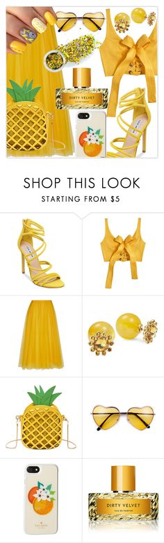 """Summer sunshine"" by ali-landy ❤ liked on Polyvore featuring Steve Madden, MARA, Rochas, Kate Spade, Vilhelm Parfumerie and The Gypsy Shrine"
