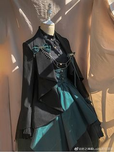 Pre-order Evening Prayer Accordion Cuff Blouse by Chronos's Temple Pretty Outfits, Pretty Dresses, Beautiful Outfits, Old Fashion Dresses, Fashion Outfits, Fashion Boots, Mode Ulzzang, Mode Lolita, Mode Kpop