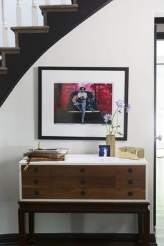 Entryway table with objets d'art