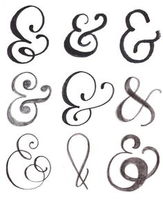 lettering with makewells: the art of the ampersand