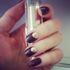 Gold moon manicure