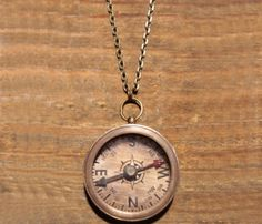 Vintage Compass Necklace. I WANT ONE!